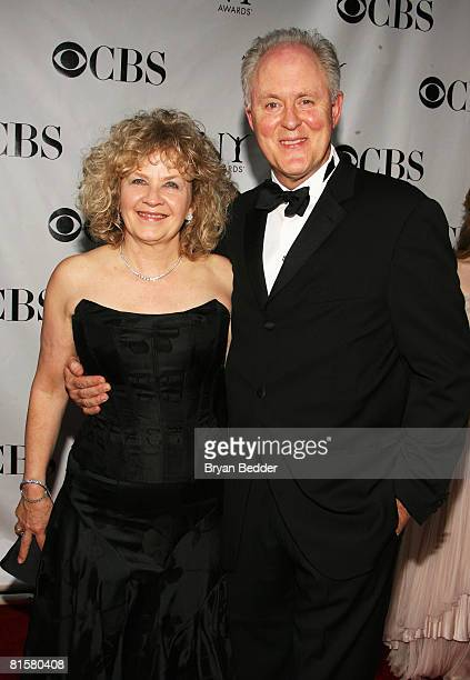 Actor John Lithgow and his wife Mary Yeager arrive at the 62nd Annual Tony Awards held at Radio City Music Hall on June 15 2008 in New York City