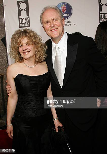 Actor John Lithgow and his wife Mary Yeager attend the 59th Annual Tony Awards at Radio City Music Hall June 5 2005 in New York City