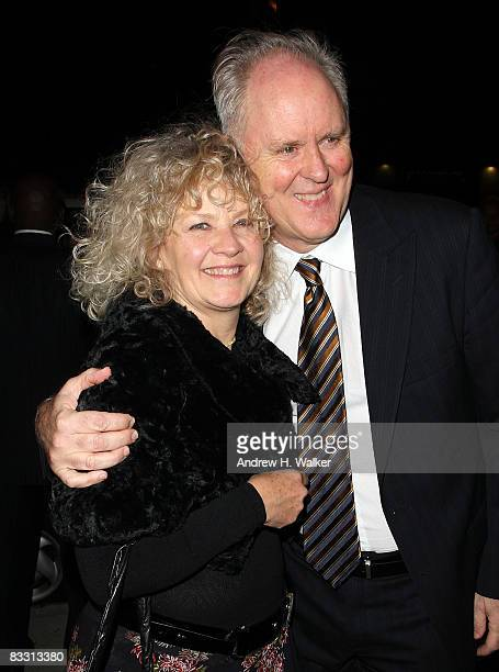 Actor John Lithgow and his wife Mary Yeager attend the after party for the opening night of All My Sons on Broadway at Espace on October 16 2008 in...