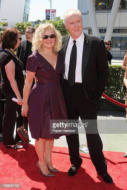 Actor John Lithgow and Mary Yeager arrive at 62nd Primetime Creative Arts Emmy Awards at the Nokia Theatre LA Live on August 21 2010 in Los Angeles...