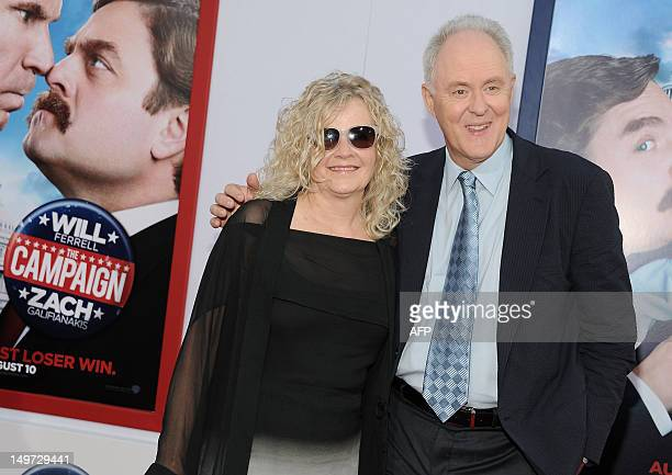 Actor John Lithgow and Mary Yeager arrive at the premiere of the film The Campaign at the Grauman's Chinese Theater in Los Angeles California on...