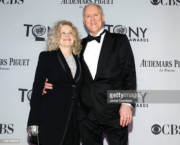 Actor John Lithgow and Mary Yeager attend the 66th Annual Tony Awards at The Beacon Theatre on June 10 2012 in New York City