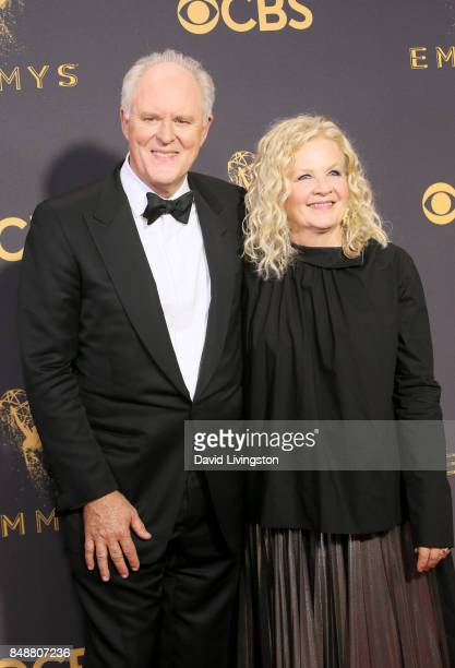 Actor John Lithgow and Mary Yeager attend the 69th Annual Primetime Emmy Awards Arrivals at Microsoft Theater on September 17 2017 in Los Angeles...