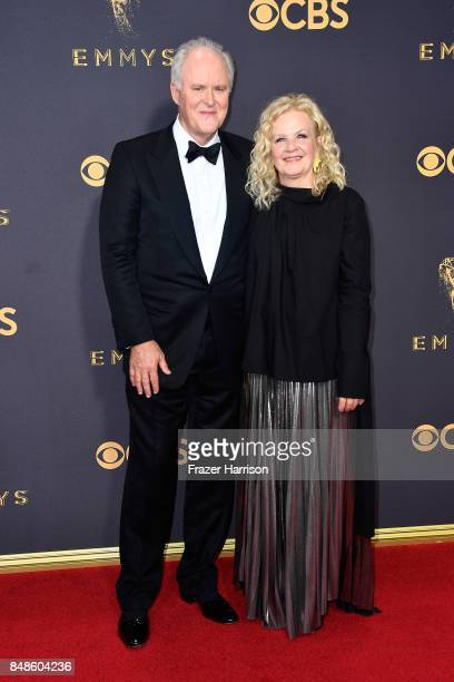 Actor John Lithgow and Mary Yeager attends the 69th Annual Primetime Emmy Awards at Microsoft Theater on September 17 2017 in Los Angeles California