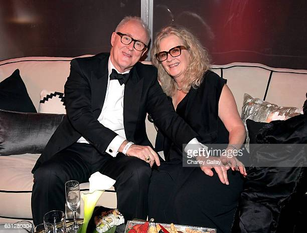 Actor John Lithgow and wife Mary Yeager at The Weinstein Company and Netflix Golden Globes Party presented with Landmark Vineyards at The Beverly...