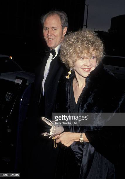 Actor John Lithgow and wife Mary Yeager attending 11th Annual ACE Awards on January 14 1990 at the Wiltern Theater in Los Angeles California