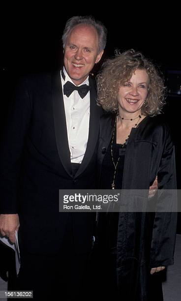 Actor John Lithgow and wife Mary Yeager attending 48th Annual Writer's Guild of America Awards on March 17 1996 at the Beverly Hilton Hotel in...