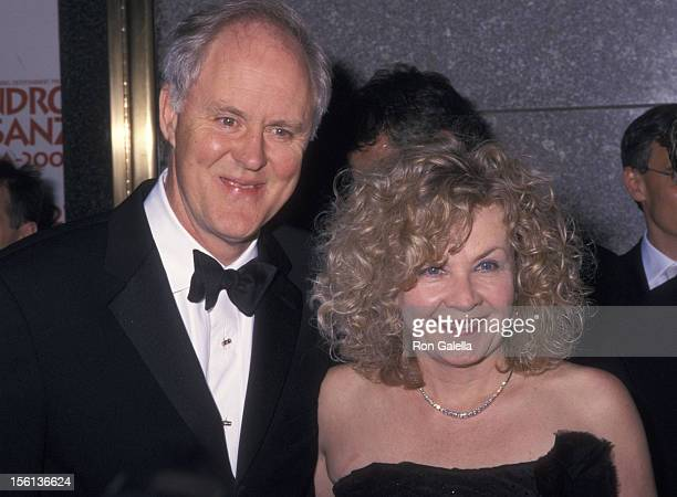 Actor John Lithgow and wife Mary Yeager attending 56th Annual Tony Awards on June 2 2002 at Radio City Music Hall in New York City New York