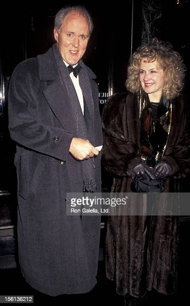 Actor John Lithgow and wife Mary Yeager attending 70th Anniversary Gala for 'The New Yorker Magazine' on February 12 1995 at the Hudson Theater in...