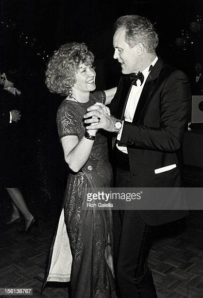Actor John Lithgow and wife Mary Yeager attending 'Party for 43rd Annual Tony Awards' on June 4 1989 at the New York Hilton Hotel in New York City...