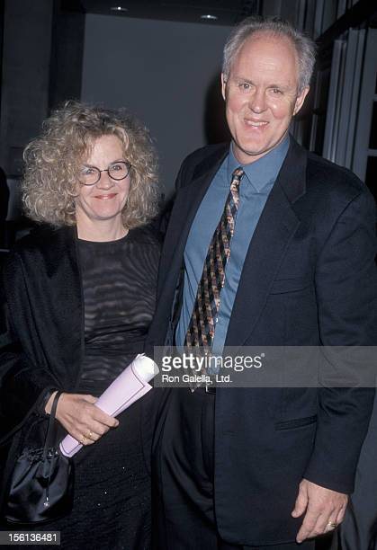Actor John Lithgow and wife Mary Yeager attending 'Shine Media Awards' on November 4 1998 at the Skirball Cultural Center in Los Angeles California