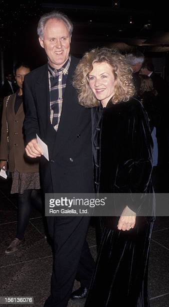 Actor John Lithgow and wife Mary Yeager attending the Los Angeles premiere of 'The Piano' on November 17 1993 at the Director's Guild Theater in...