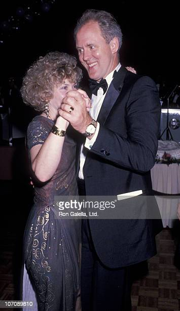 Actor John Lithgow and wife Mary Yeager attending the opening of Who's Afraid of Virginia Wolfe on October 5 1989 at the Doolittle Theater in...