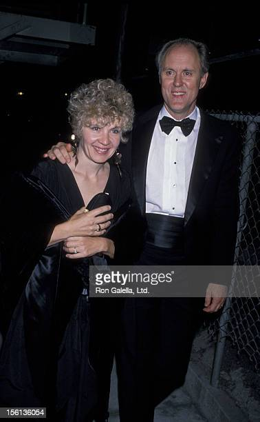 Actor John Lithgow and wife Mary Yeager attending the opening of 'Who's Afraid of Virginia Wolfe' on October 5 1989 at the Doolittle Theater in...