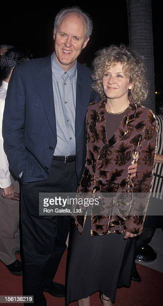 Actor John Lithgow and wife Mary Yeager attending the premiere of 'A Thousand Acres' on September 15 1997 at the Academy Theater in Beverly Hills...