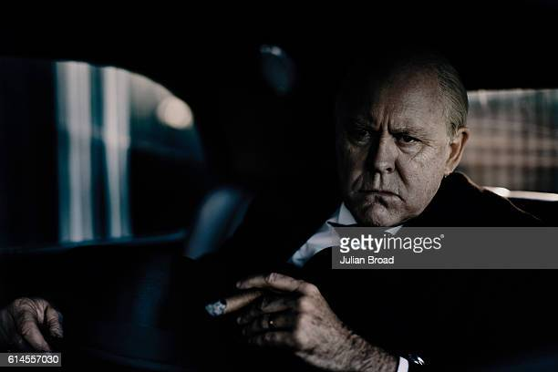 Actor John Lithgow as Winston Churchill from the series Crown is photographed for Vanity Fair on February 16 2016 in Borehamwood England