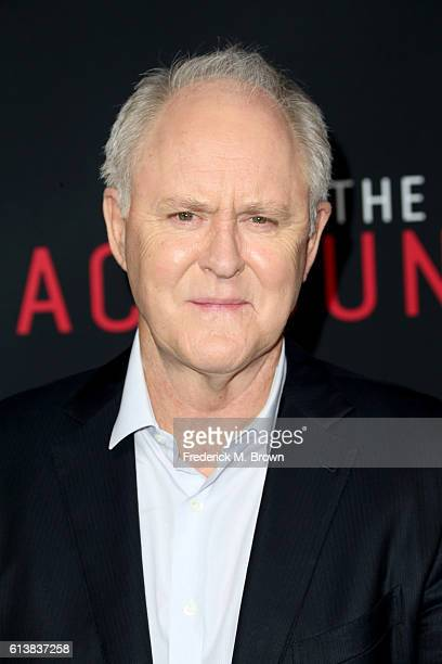 Actor John Lithgow attends the premiere of Warner Bros Pictures' 'The Accountant' at TCL Chinese Theatre on October 10 2016 in Hollywood California