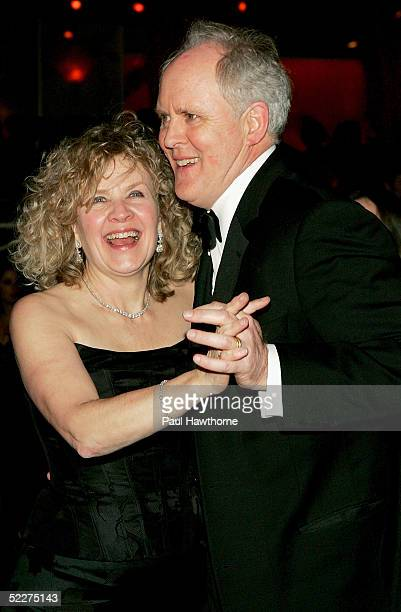 Actor John Lithgow dances with his wife Mary Yeager during the opening night of Dirty Rotten Scoundrels after party at Copacobana on March 3 2005 in...