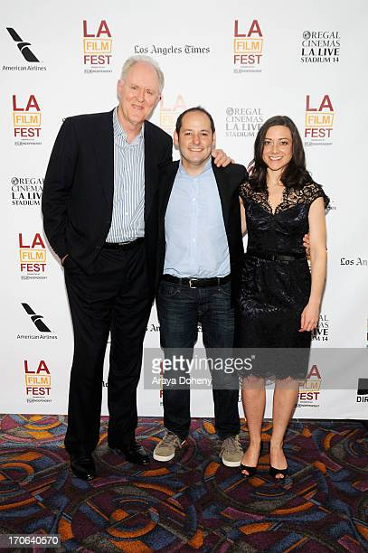 Actor John Lithgow director Tom Donahue and Editor Jill Schweitzer arrive at the Casting By Conversations Panel during the 2013 Los Angeles Film...