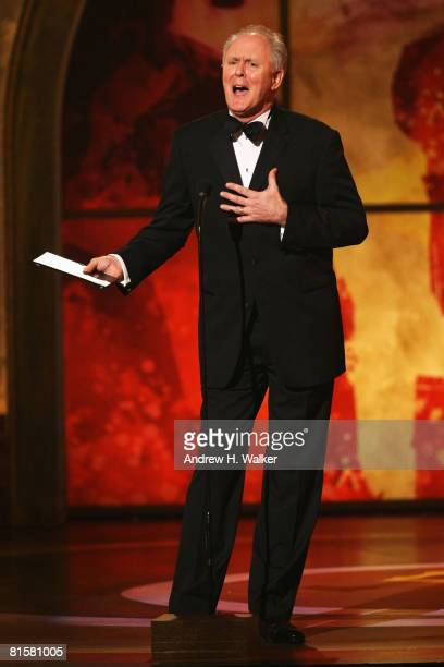 Actor John Lithgow presents the Tony for Best Direction of a Musical onstage during the 62nd Annual Tony Awards held at Radio City Music Hall on June...