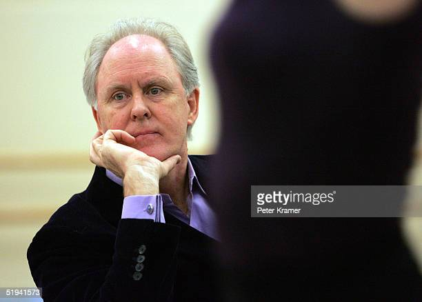 Actor John Lithgow rehearse scenes from his new musical Dirty Rotten Scoundrels which will preview on January 31 on January 12 2005 in New York City