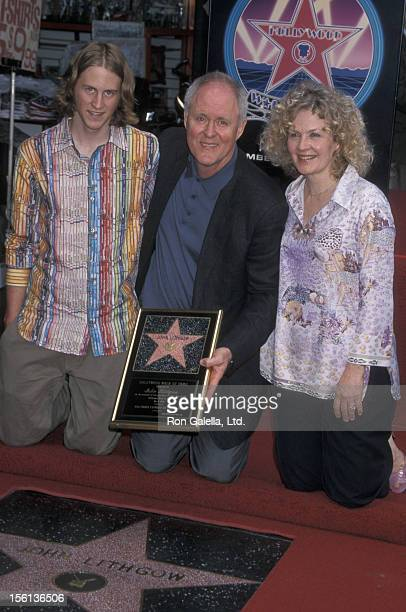 Actor John Lithgow wife Mary Yeager and son Ian Lithgow attending 'John Lithgow Receives Hollywood WalkofFame Star' on May 2 2001 at the Hollywood...