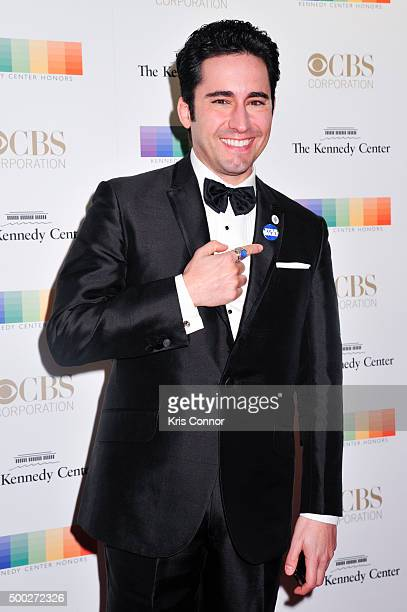 Actor John Lloyd Young arrives at the 38th Annual Kennedy Center Honors Gala at the Kennedy Center for the Performing Arts on December 6 2015 in...