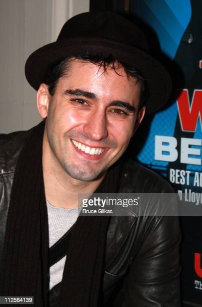 Actor John Lloyd Young who plays Frankie Valli in the Tony Awardwinning Broadway show 'Jersey Boys' poses as his scheduled run is cut short by the...