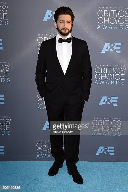 Actor John Magaro attends the 21st Annual Critics' Choice Awards at Barker Hangar on January 17 2016 in Santa Monica California