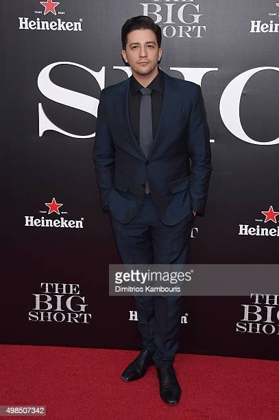 Actor John Magaro attends the premiere of The Big Short at Ziegfeld Theatre on November 23 2015 in New York City