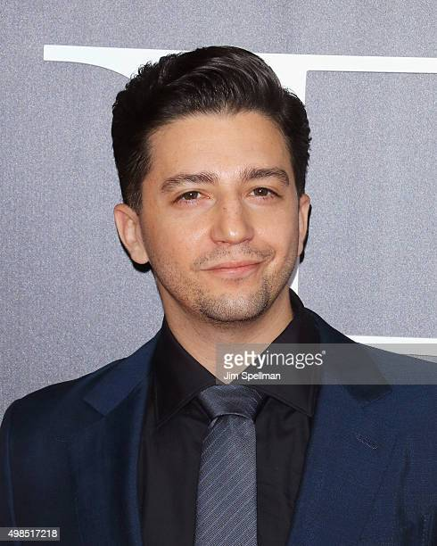 Actor John Magaro attends the The Big Short New York premiere at Ziegfeld Theater on November 23 2015 in New York City