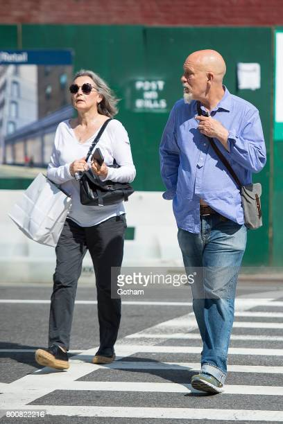 Actor John Malkovich and Nicoletta Peyran are seen in NoHo on June 25 2017 in New York City