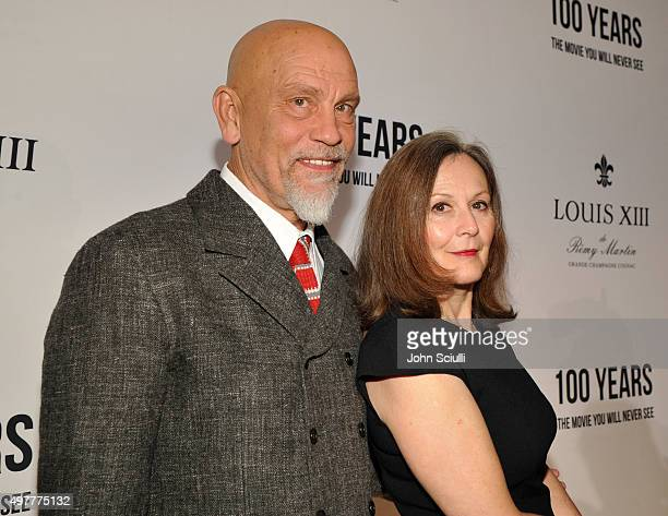 Actor John Malkovich and Nicoletta Peyran attend Louis XIII Celebration of 100 Years The Movie You Will Never See starring John Malkovich at a...