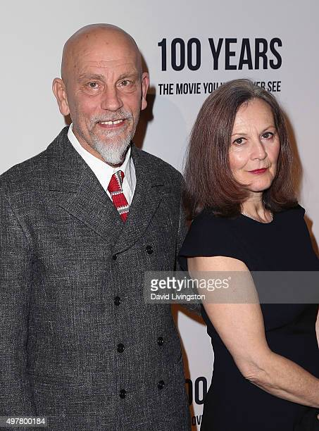 Actor John Malkovich and Nicoletta Peyran attend LOUIS XIII toasts to 100 Years The Movie You Will Never See at the Sheats Goldstein residence on...