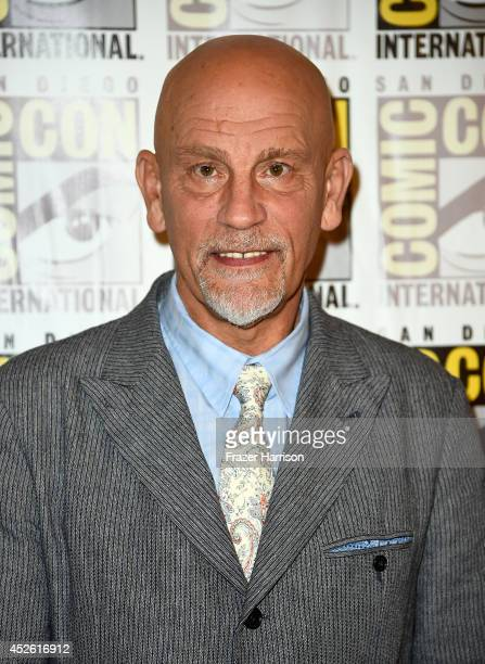 Actor John Malkovich attends DreamWorks Animation Press Line during Comic-Con International 2014 at Hilton Bayfront on July 24, 2014 in San Diego,...