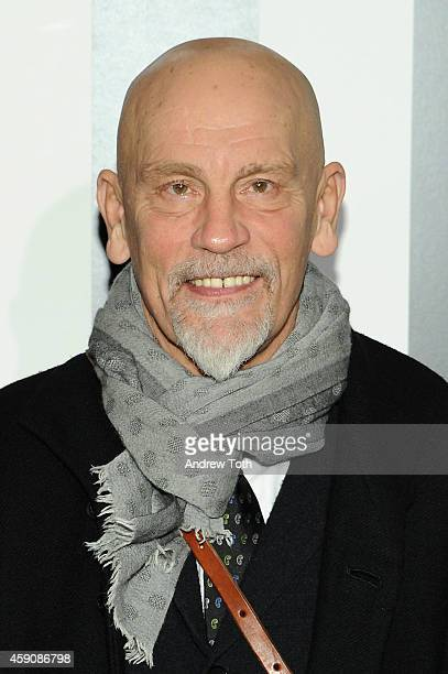 Actor John Malkovich attends 'Penguins Of Madagascar' New York premiere at Winter Village at Bryant Park Ice Rink on November 16 2014 in New York City