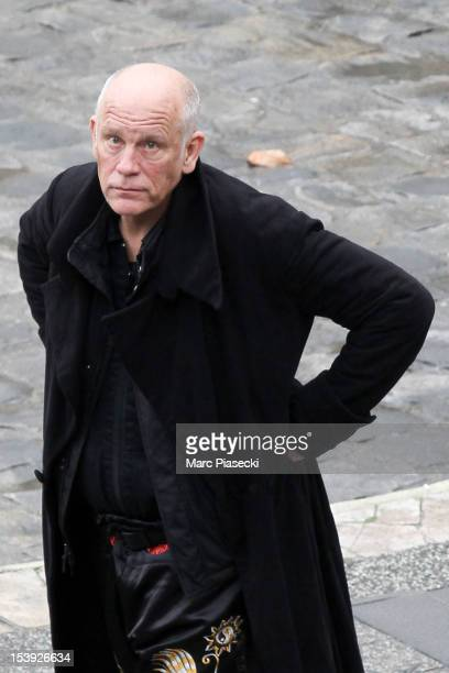 Actor John Malkovich is seen on the set of 'RED 2' on October 11 2012 in Paris France