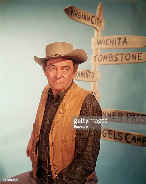 Actor John McIntire as Chris Hale in the television series Wagon Train He played the role from 19611965