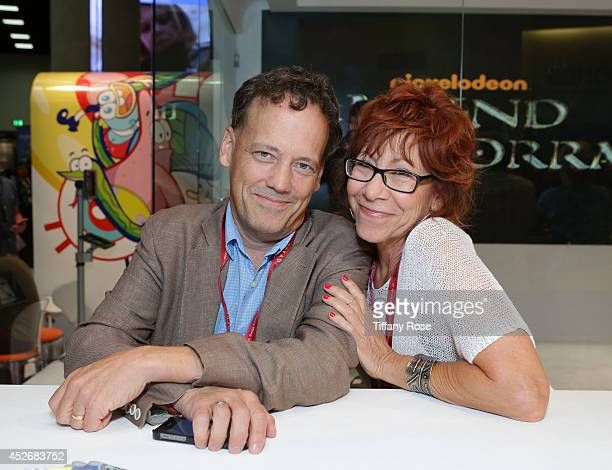 Actor John Michael Higgins and actress Mindy Sterling attend the Legend of Korra signing at the 2014 San Diego ComicCon International Day 3 on July...