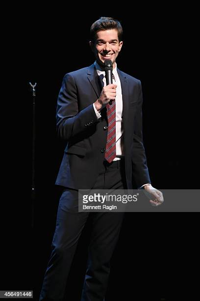 Actor John Mulaney performs at the MULANEY NYC Comedy Showcase on October 1 2014 in New York City