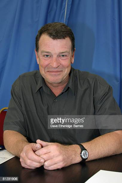 Actor John Noble is seen at The Fellowship Festival 2004 aimed at J R R Tolkien fans at Alexandra Palace on August 28 2004 in London The Lord of the...