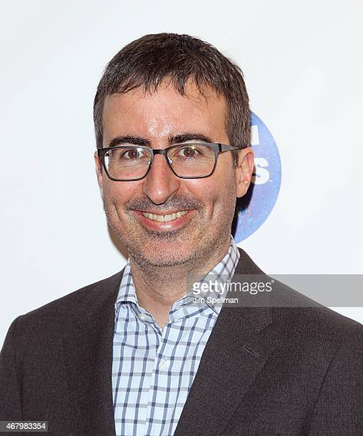 Actor John Oliver attends the 2015 Garden Of Laughs Comedy Benefit at the Club Bar and Grill at Madison Square Garden on March 28 2015 in New York...