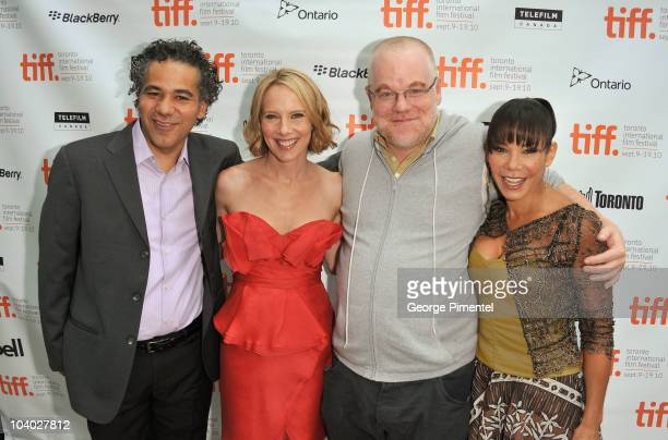 Actor John Ortiz actress Amy Ryan actor Philip Seymour Hoffman and actress Daphne RubinVega attend the 'Jack Goes Boating' Premiere during the 35th...