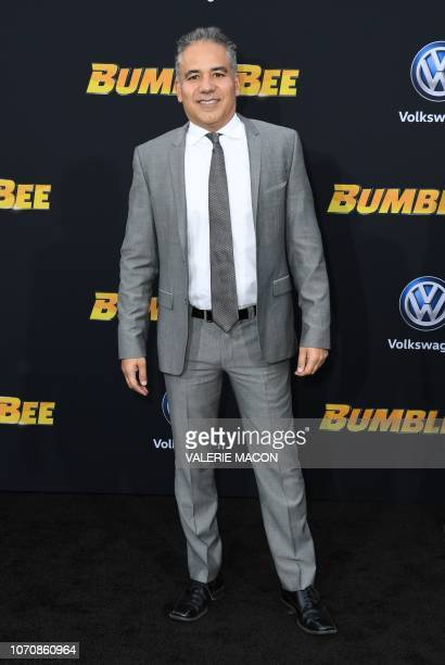 """Actor John Ortiz attends the global premiere of """"Bumblebee"""" at the TCL Chinese theatre in Hollywood on December 9, 2018."""