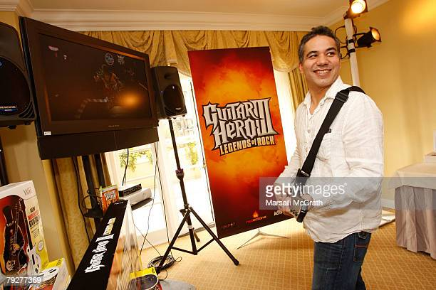 """Actor John Ortiz attends The Luxury Lounge in honor of the 2008 SAG Awards featuring Activision's """"Guitar Hero III"""", held at the Four Seasons Hotel..."""