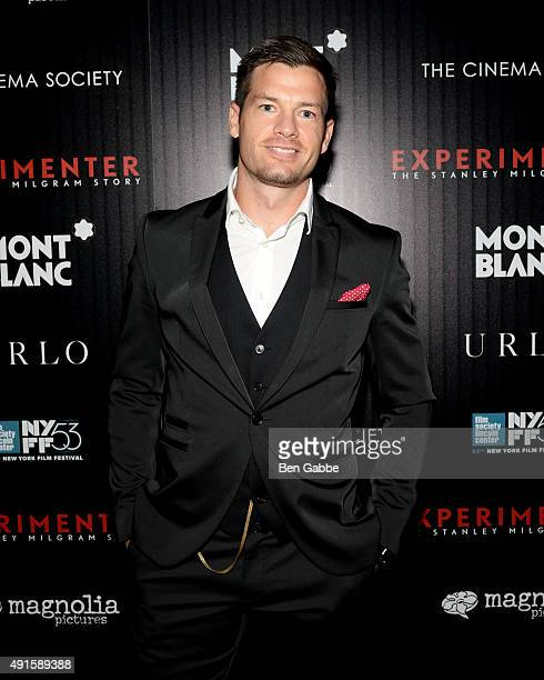 Actor John Palladino attends the party for the 53rd New York Film Festival's premiere of Magnolia Pictures' 'Experimenter' hosted by Montblanc and...