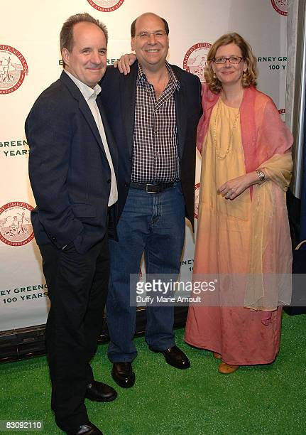 Actor John Pankow Gary Greengrass and actress Kristine Sutherland attend Barney Greengrass' celebration of 100 Years on June 18 2008 at Barney...