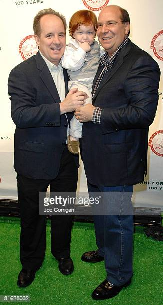 Actor John Pankow Moe Greengrass and Gary Greengrass owner of Barney Greengrass attend the Barney Greengrass celebration of 100 years on June 18 2008...