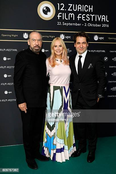 Actor John Paul DeJoria of the movie 'Good Fortune' his wife Eloise Broady and Festival director Karl Spoerri attend the 'Lion' premiere and opening...