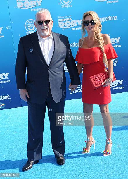 Actor John Ratzenberger and Julie Blichfeldt attend the world premiere of DisneyPixar's 'Finding Dory' at the El Capitan Theatre on June 8 2016 in...
